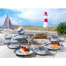 Friesland Jeverland Strand-Linie Kaffee-Set für 6 Personen 18-teilig