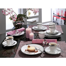 Friesland Kaffee-Set, La Belle, Friesland, 18 tlg., 6 Personen Black & White