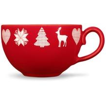 Friesland Kaffee- Obertasse, Friesland, 0,24l Weihnachten Rot