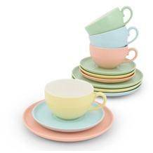 Friesland Kaffee-/ Tee- Set 12tlg. Trendmix Pastell Bunt