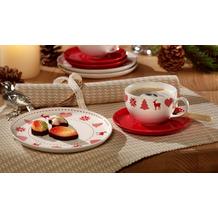 Friesland Kaffee/Tee Set, Happymix 1 Personen Weihnachten Weiß