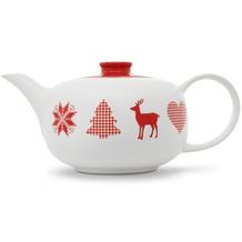 Friesland Teekanne 1,25l Happymix Winterzauber Weiß