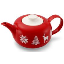 Friesland Teekanne, Friesland, 1,25l Weihnachten Rot