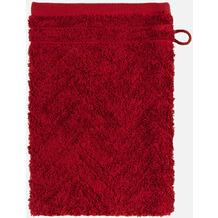 frottana Waschhandschuh Elegance rubin 20 x 15 cm