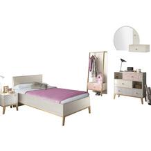 Gami Jugendzimmer Set - 5 teilig mit Bett  90x200 cm - Alika 5 Kastanie Nachbildung