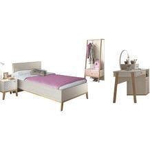 Gami Jugendzimmer Set - 5 teilig mit Bett  90x200 cm - Alika 6 Kastanie Nachbildung
