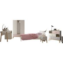 Gami Jugendzimmer Set - 6 teilig  mit Bett  90x200 cm - Alika 1 Kastainie Nachbildung
