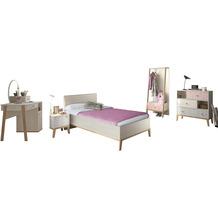 Gami Jugendzimmer Set - 6 teilig mit Bett  90x200 cm - Alika 2 Kastanie Nachbildung
