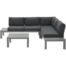 Garden Impression Adelaide loungeset 4-teilig arctic grey/ reflex black