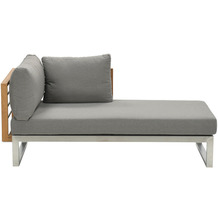 Garden Impression Belerive chaise lounge elem. L stainless steel/teak/warm grey