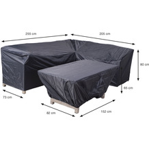 Garden Impression Coverit Lounge / Ess-Hacken 255/205x73xH80 & 152x82xH65