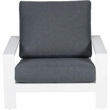 Garden Impression Lincoln lounge Sessel matt weiß/ reflex black