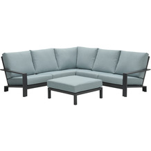 Garden Impression Lincoln lounge set 4-dlg carbon black/ mint grey