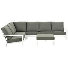Garden Impression Lincoln lounge set 4-dlg matt weiß/ moss green