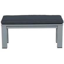 Garden Impression Romero lounge bank 100x43xH40 arctic grey/ antraciet