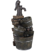 Garden Pleasure Brunnen VENETIEN in Holz-/Steinoptik mit Kaskade