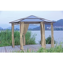 Garden Pleasure Pavillon SALMON, 6-eckig Alu / Stahl / Polycarbonat / Polyester