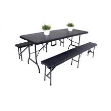 Garden Pleasure Tisch-Set VENTANA, 3-teilig, Rattan-Optik