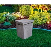 Gardenforma Abdeckung eckig für Gasflaschen, Beton-Optik grau Faser-Beton,für 11kg Gasbehälter
