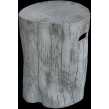 Gardenforma Abdeckung für Gasflaschen, Baumstamm-Optik grau Eco-Stone, für 11kg Gasbehälter
