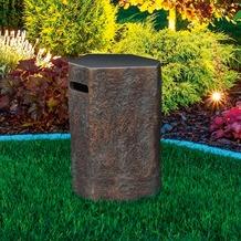Gardenforma Abdeckung für Gasflaschen, Naturstein-Optik dunkel Faserbeton,für 11kg Gasbehälter