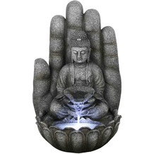 Gardenforma Wasserspiel Buddha Calm, Polyresin inkl. Pumpe