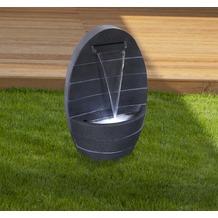 Gardenforma Wasserspiel Parana, Polyresin inkl. Pumpe und LED-Beleuchtung