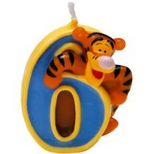 PROCOS Geburtstagskerze Nr. 6, Disney Winnie, 1 Stück