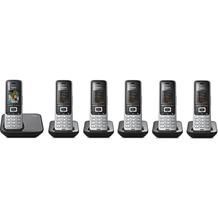 Gigaset S850 Hexa (6 Mobilteile), platin / schwarz