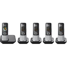 Gigaset S850 Penta (5 Mobilteile), platin / schwarz