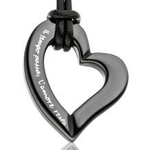Gilardy Anhänger mit Kette Keramik Herz Black schwarz 13739