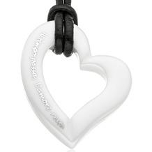 Gilardy Anhänger mit Kette Keramik Herz White weiß 13743
