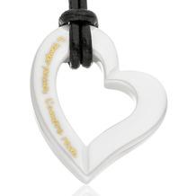 Gilardy Anhänger mit Kette Keramik Herz White weiß 13745