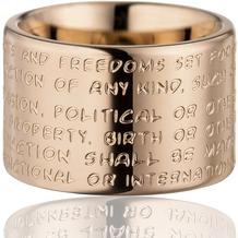 Gilardy Ring Edelstahl PVD Rotgold  9531 16 (50,5)
