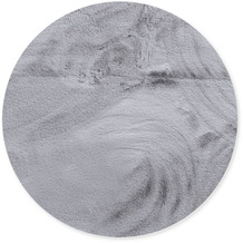Gino Falcone Teppich Chiara silver 40 x 40 cm Rund