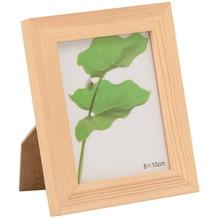 Glorex Bilderrahmen mit Glas passend für Fotos im Format 8x10cm aus Holz Kiefer unbehandelt