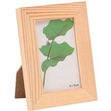 Glorex Bilderrahmen mit Glas passend für Fotos im Format 6x9cm aus Holz Kiefer unbehandelt