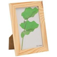 Glorex Bilderrahmen mit Glas passend für Fotos im Format 10x15cm aus Holz Kiefer unbehandelt