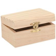 Glorex Holzbox rechteckig L11,5xB8xH6cm Geschenkbox aus Holz Kiefer unbehandelt