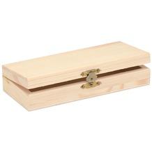 Glorex Holzbox rechteckig L17,5xB7,5xH3,5cm Geschenkbox aus Holz Kiefer unbehandelt
