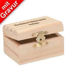 Glorex Holzbox rechteckig MIT GRAVUR (z.B. Namen) L8xB5,5xH4,5cm Geschenkbox aus Holz Kiefer unbehandelt