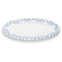Gmundner Blaugeflammt, Platte oval/ Fahne Gourmet (21x14cm)