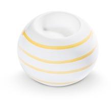 Gmundner Gelbgeflammt, Kugel-Leuchter/ 1 Teelicht