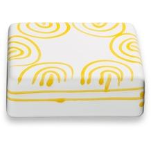 Gmundner Gelbgeflammt, Oberteil Dose/Butter