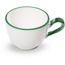 Gmundner Grüner Rand Kaffeetasse glatt (0,19L)
