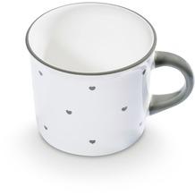 Gmundner Herzerl Grau, Kaffeehäferl glatt (0,24L)