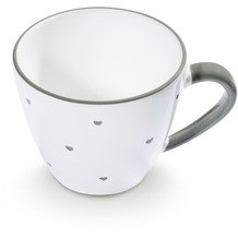 Gmundner Herzerl Grau, Kaffeetasse Gourmet (0,2L)