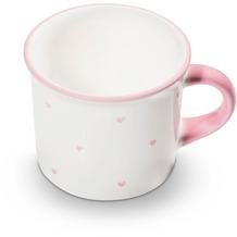 Gmundner Herzerl Rosa, Kaffeehäferl glatt (0,24L)
