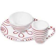Gmundner Rotgeflammt, Hüttenfrühstück Cup 3tlg. für 1 Person, im Geschenkkarton