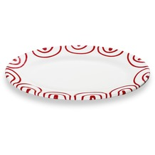 Gmundner Rotgeflammt, Platte oval/ Fahne Gourmet (21x14cm)